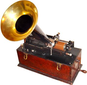 Edison_wax_cylin_Phonograph