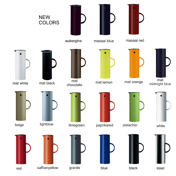 Stelton_carafe_colors