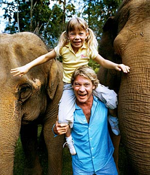 Steve & Bindi & Elephants