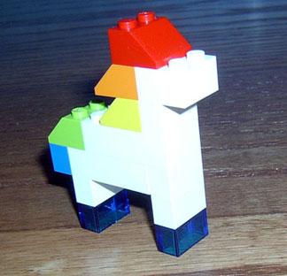 Rainbow Lego Pony