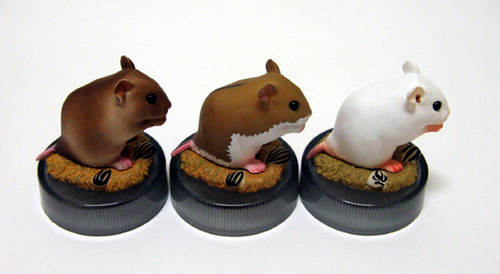 Chinese hamster trio